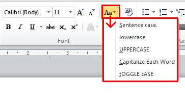 how to change the word to capital case in excel