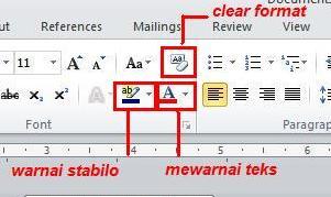 Mewarnai teks pada Microsoft Word 2010