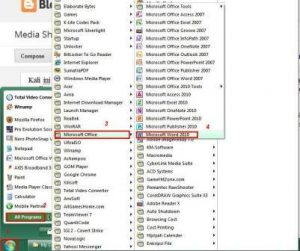 Membuka Microsoft Office Word