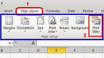 Membuat Print Titles Judul Berulang Secara Otomatis Pada ...