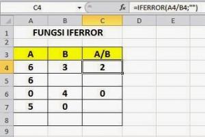 Fungsi IFERROR pada Excel