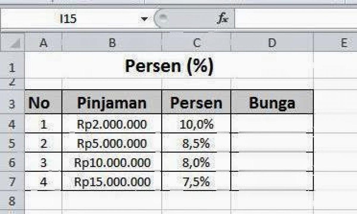 Menghitung Persentase Menggunakan Excel Belajar Office