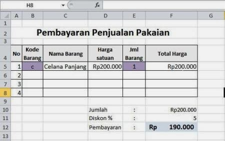 Membuat Format Penjualan Dengan Vlookup Pada Excel