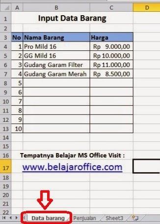 Download Contoh Nota Penjualan Dengan Rumus Excel