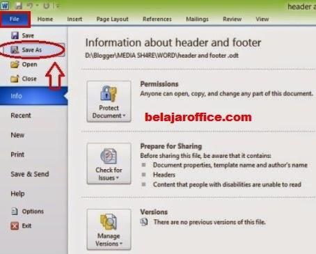 Menyimpan File Office Word 2010 Menjadi PDF