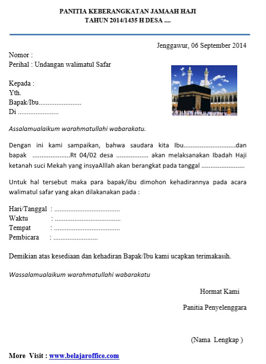 Contoh Surat Izin Naik Haji Contoh Ijk