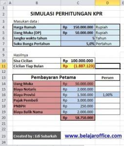 Rumus Excel Menghitung KPR