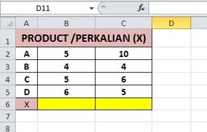 Rumus Product Excel