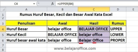 Huruf Kapital di Excel