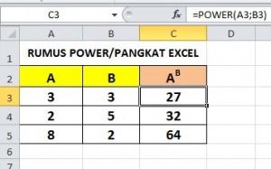 Hasil Rumus Power Excel
