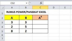 Rumus Power Excel