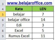Rumus Excel LEN