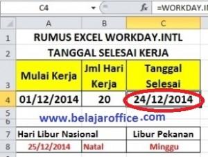 Rumus Excel WORKDAY.INTL