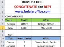 Rumus Excel CONCATENATE dan REPT