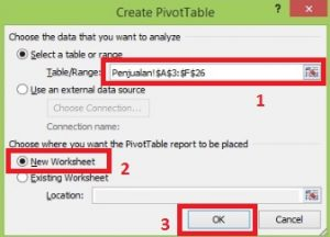 Create Pivot Table