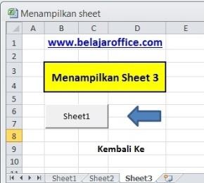 Mengaktifkan sheet 3