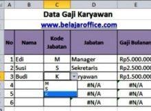 Data Gaji Karyawan