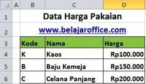Data Harga