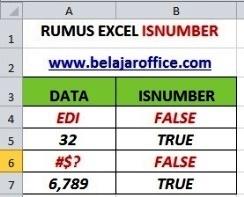 RUMUS EXCEL ISNUMBER