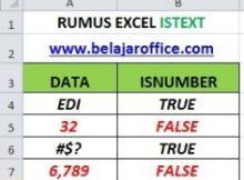 RUMUS EXCEL ISTEXT
