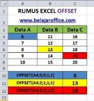 RUMUS EXCEL OFFSET