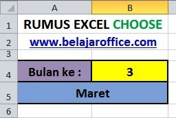 Rumus Excel Choose