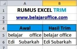 Rumus Excel TRIM
