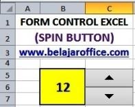 Membuat Spin Button Excel