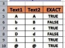 Rumus Excel Exact