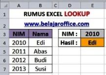 Rumus Excel LOOKUP