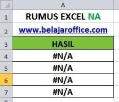 Rumus Excel NA