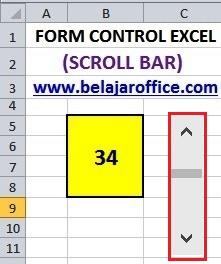 Scroll Bar Excel