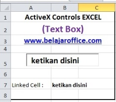 Text box ActiveX VBA