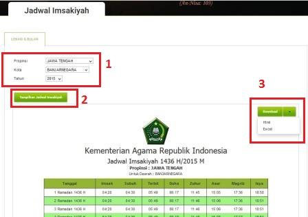 Jadwal Imsyakiyah 2015