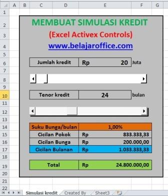 Membuat Simulasi Kredit (Activex Controls)