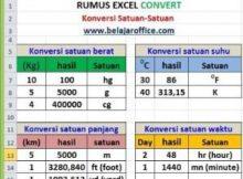 Rumus Excel Convert