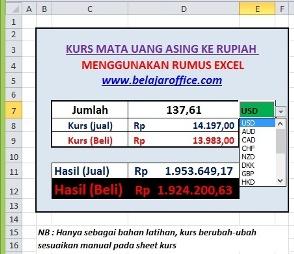 Rumus Excel Hitung Kurs Mata Uang