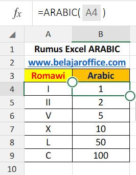 Rumus Excel Arabic