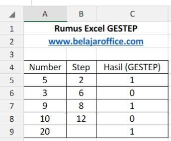 Rumus Excel GESTEP