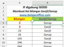 Rumus Excel IF Digabung ISODD