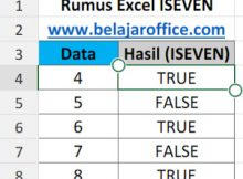 Rumus Excel ISEVEN