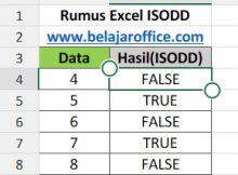 Rumus Excel ISODD