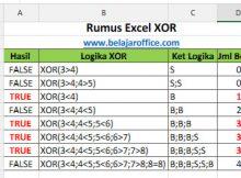 Fungsi Excel XOR