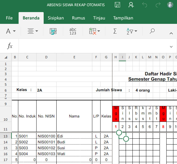 Kompatibilitas MS Excel Android