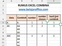 Rumus Excel CombinA