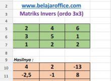 Inverse Matriks ordo 3x3