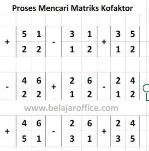 Proses Mencari Kofaktor Matriks
