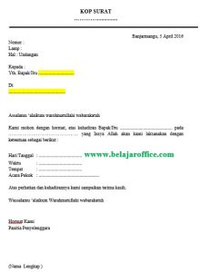 Surat Undangan Mail Merge