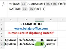 Rumus Excel IF digabung DATEDIF