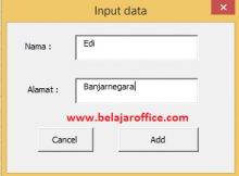 Contoh UserForm VBA Excel